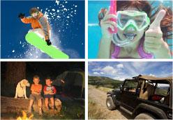 snowboarding-snorkling-camping-fourwheeling