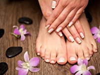 Hot-Stone Reflexology with Deluxe Pedicure and Wine