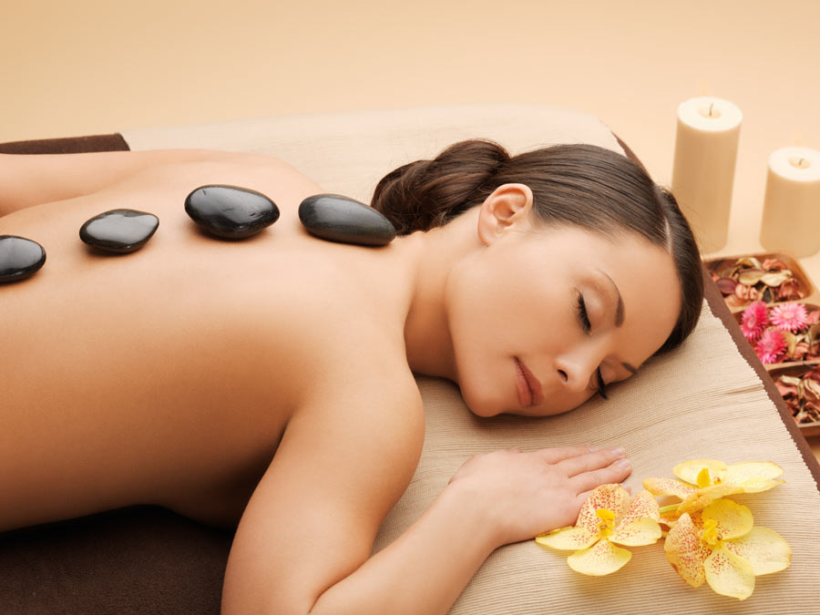 Hot-Stone Massage with Essential Oils