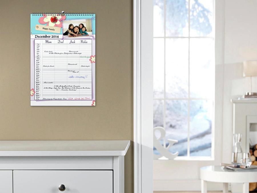 Custom Family Calendar with Standard Shipping