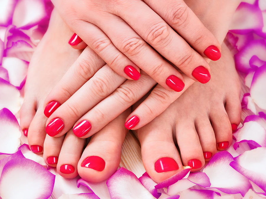 Shellac Manicure and Spa Pedicure Treatment