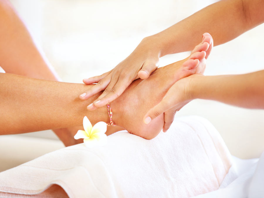 Foot and Back Massage with Herbal Foot Soak