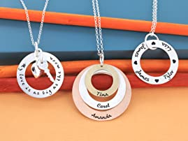 Personalized Circle of Life Necklace with Shipping