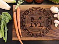 Personalized Wooden Cutting Board with Shipping