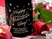 Custom-Etched Bottle of Wine