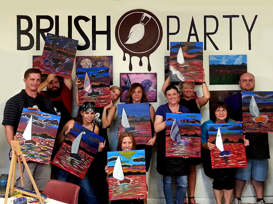 Three-Hour Painting Class or Private Painting Party