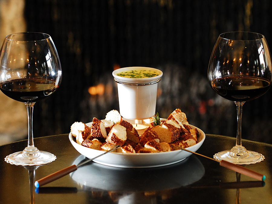 Cheese Fondue & Wine at Winegasm Bar & Eatery