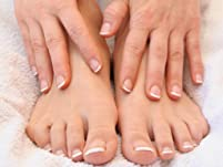 Basic Manicure and Salt Scrub Pedicure