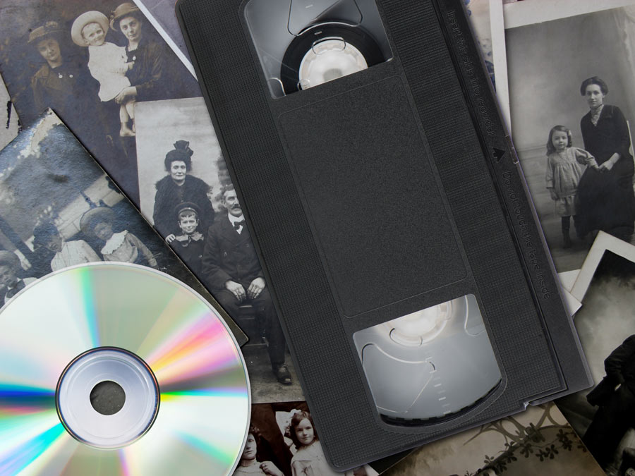 Slides, Photos, or Tapes Transferred to DVD