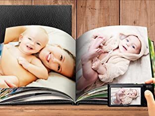 Custom Leather Hardcover Photo Books with Free Shipping