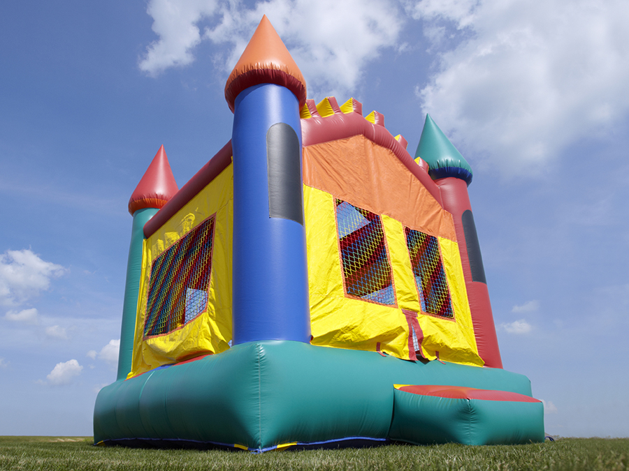 At Home Moon Bounce Party Package with Popcorn Machine