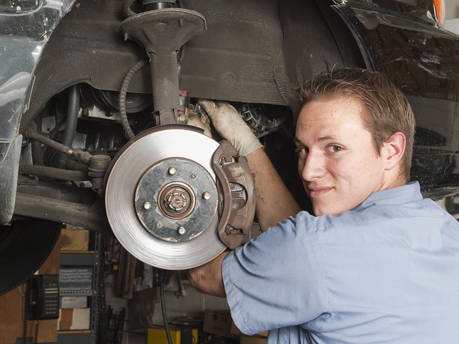 Premier Brake Service with Pads and Tire Rotation