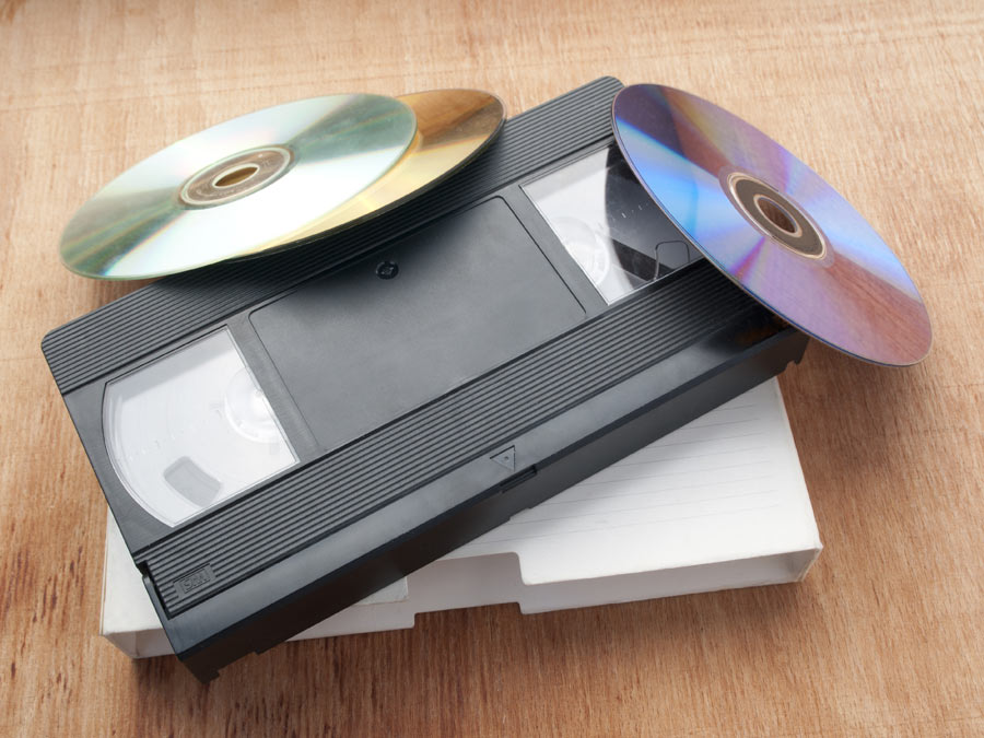 Three or Six VHS-to-DVD Conversions