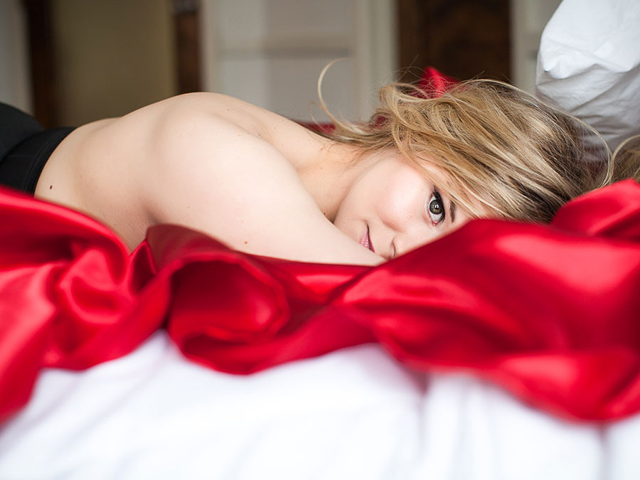 Boudoir Photography Session Including a Fine Art Canvas