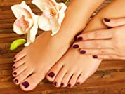 Deluxe Pedicure and Shellac Manicure with Wine