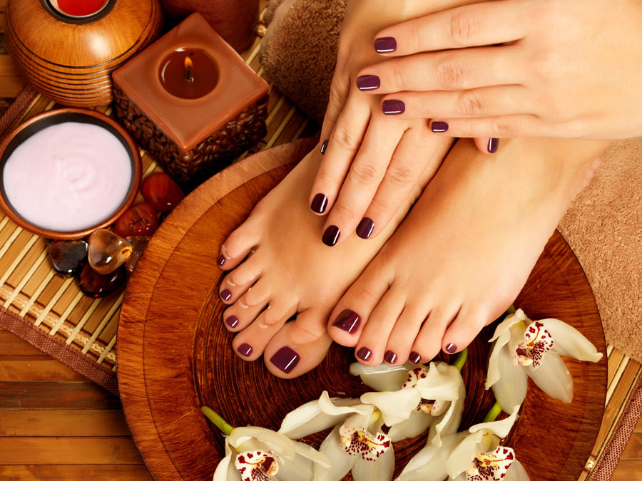 OPI Gel or CND Shellac Manicure or Regular Polish Pedicure