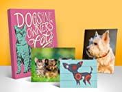 Custom Pet Portrait Prints on Canvas, Wood & More