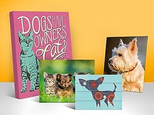 Custom Pet Portrait Prints on Canvas, Wood & More