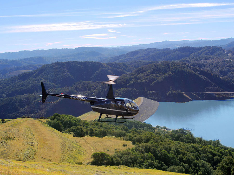 Helicopter Tour and Wine Tasting for Three