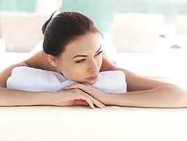 Spa Day with Massage, Facial, Pedicure, Soak, Scrub, and Crème