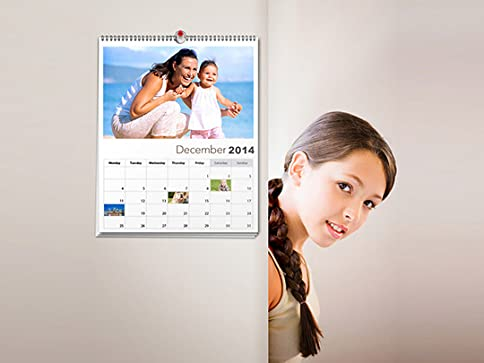 Custom Photo Calendar with Free Shipping From $12 (Value $25.98)