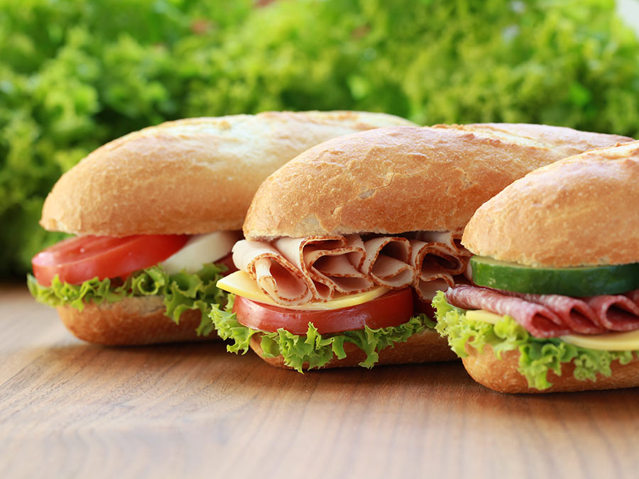 Three Quiznos Sandwich Combos