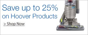Save Up to 25% on Hoover Products
