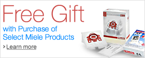 Free Gift with Purchase of Select Miele Products