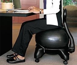 Gaiam Balance Ball Chair Black Exercise Balls Sports Outdoors