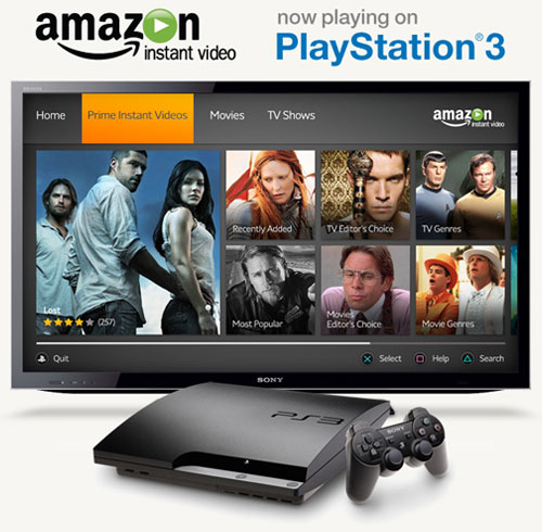 Amazon Instant Video now on PlayStation 3
