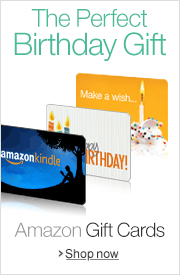 Give Amazon.com Gift Cards for Birthdays