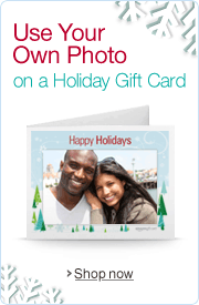 Use Your Own Photo on a Holiday Amazon.com Gift Card