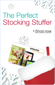 Amazon.com Magazines Gift Cards Make Great Stocking Stuffers