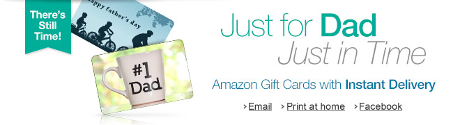Amazon.com Father's Day Gift Cards with Instant Delivery via Email and
