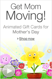 Animated Mother's Day Amazon.com Gift Cards