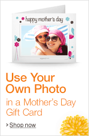 Use Your Own Photo on a Mother's Day Amazon.com Gift Card
