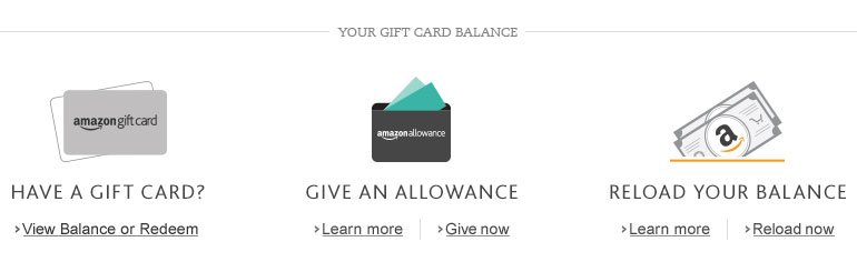 Amazon Gift Cards: Your Account