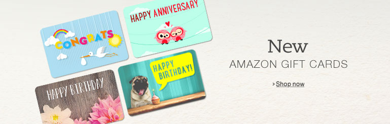 New Amazon.com Gift Cards
