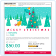 E-mail a gift card