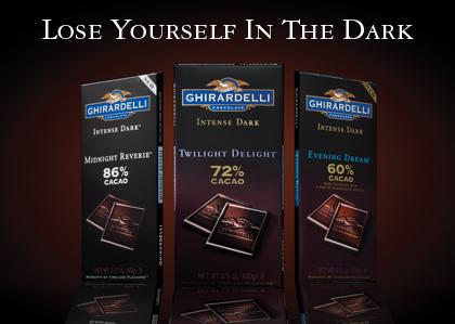 Ghirardelli Dark Chocolate Raspberry Square Nutrition