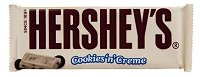 Hersheys cookies and cream bar.