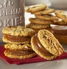 Peese's peanut butter cup sandwich cookies.