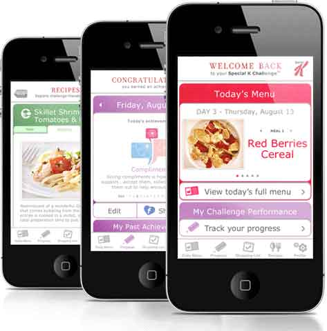 Cell phones with Special K app