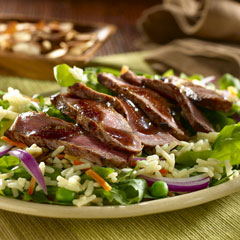 Balsamic Steak & Arugula Salad with Rice