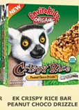 Natures Path EnviroKidz Organic Lemur Peanut Choco Drizzle Crispy Rice Bars