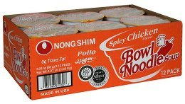 Nong Shim Spicy Chicken Bowl Noodle Soup