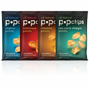 Four assorted popchips flavors flavors