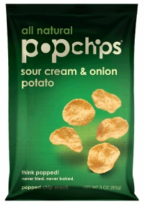 Bag of Sour Cream and Onion Popchips