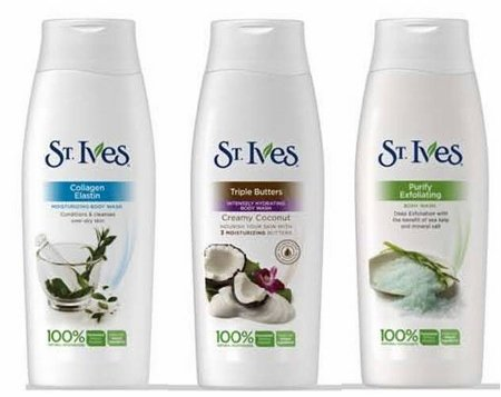 St. Ives complete range of body wash products.