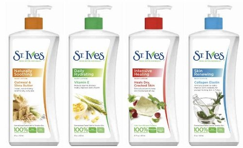 St. Ives complete range of lotions.